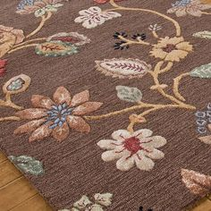 Field of Flowers Hand Tufted Rug:  6 Colors