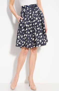 Kate Spade Lilith pleat silk skirt.