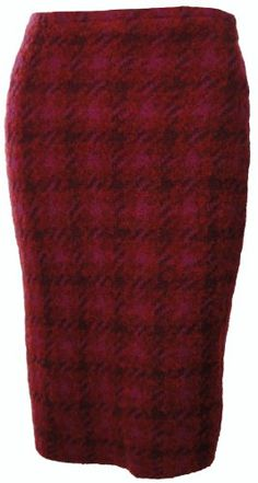 Sutton Studio Women`s Wool Blend Plaid Pencil Skirt