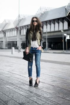 leather, jeans, holes, HAIR, clutches.................... HEELS