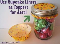 Decorate jar tops for gift giving