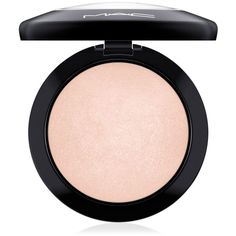 Mac Future Mac Mineralize Skinfinish Highlighter ($32) ❤ liked on Polyvore featuring beauty products, makeup, face makeup, face powder, warm rose, mineral face powder and mac cosmetics