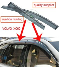 85.00$  Watch here - http://ali0xz.worldwells.pw/go.php?t=32685964308 - VOL-VO XC60 sunvisor/ Sun visor window visor rain shield/shade/protector, total 4pcs, PMMA material, Injection molding quality