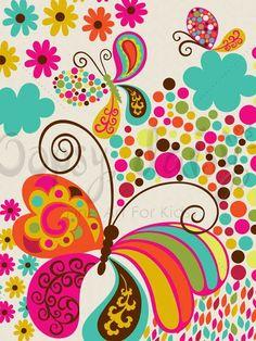 Folk Fairy Tale - Fly Away - Bugs & Butterflies Canvas Wall Art | Oopsy daisy