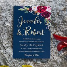 boho navy blue and burgundy floral watercolor wedding invitations Summer Wedding Invitations, Watercolor Wedding Invitations, Floral Invitation, Wedding Invitation Cards, Invitation Ideas, Maroon Wedding, Wedding Matches, Purple Wedding, Wedding Flowers