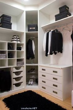 Closet Idea, Like the corner shelf.