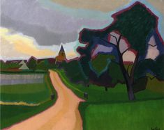 Church at Orgeruse 1908 | Auguste Herbin | oil painting