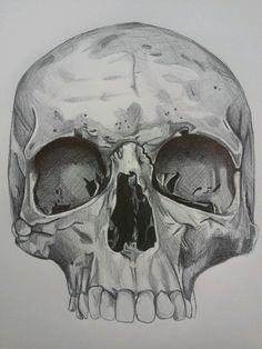 Skull pencil