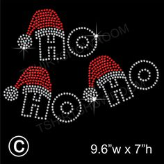 Ho Ho Ho Christmas Rhinestone/Diamante Transfer Hotfix Iron on Motif + free gift Frugal Christmas, Christmas Cover, Christmas Rock, Christmas Bells, Christmas Greetings, Christmas Crafts, Merry Christmas, Rhinestone Crafts, Rhinestone Transfers