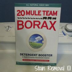 20 Mule Team Borax uses for laundry and cleaning {on Stain Removal 101}