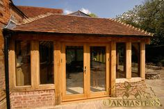 Oak Sun Rooms, Orangeries, Garden Rooms and Conservatories - Oak summerhouse. Enhance your home with a bespoke oak garden room. Orangery Extension, Cottage Extension, House Extension Design, House Design, Garden Room Extensions, House Extensions, Orangery Roof, Oak Framed Extensions, Oak Framed Buildings