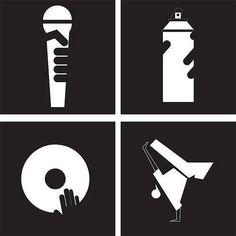 "Four ""Core"" elements of Hip Hop. MC'ing, Deejaying, Graffiti, Breaking."