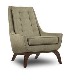 One Kings Lane - Elite Leather Company - Twiggy Armchair Cool Furniture, Furniture Design, Leather Company, Armless Chair, Take A Seat, Mid Century Modern Design, Cool Chairs, My Living Room, Mid-century Modern