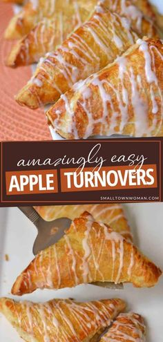 Apple Recipes With Puff Pastry, Apple Turnovers With Puff Pastry, Apple Turnover Recipe, Turnover Recipes, Apple Pie, Apple Desserts, Delicious Desserts, Easy Desserts, Frozen Pastry