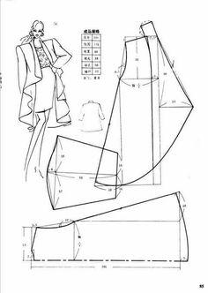 pola blazer panjang