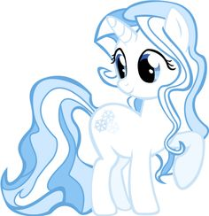 Snow Shower is a unicorn who has the talent of organizing winter. She is a very soft spoken and shy pony, so she always gets really stressed out during this time. She loves meeting with fellow winter ponies such as Soft Snow and Frosty Shake who are also in the center.