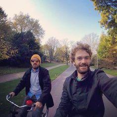 Me and Giubi ridin' in Vondelpark