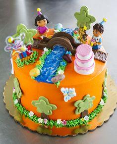 A Dora the Explorer birthday cake! Cake # 024.
