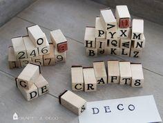 Buchstaben+/+Nummern+Stempel+Set+von+Crafts+&+Deco+auf+DaWanda.com
