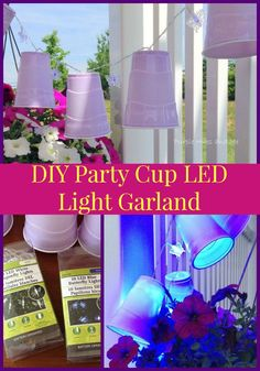 DIY party cup LED light garland