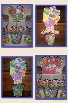 4 Shopkins Party Centerpieces
