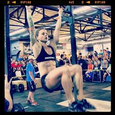 "Christmas CrossFit T2B tip: knees to chest then ""flick"" your feet to the bar. #crossfit"