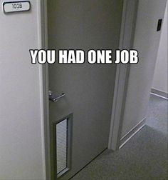 You had ONE job (27 Photos) – theCHIVE Very funny, click on the link.