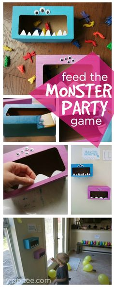 This feed the monster game tutorial is quick and easy and the perfect monster party game idea for your little monster's next birthday party!