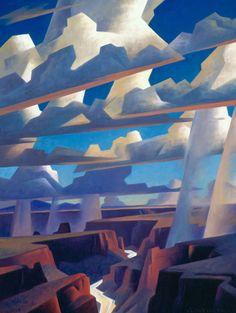 Ed Mell, 'Canyon Light and Rain'