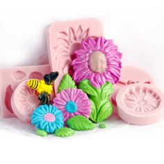 Baby Mold Infant  5 Mold Set  Flower Baby Flowers by MoldMeShapeMe, $32.95