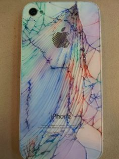 mixed media art iphone colour cracks - Google Search