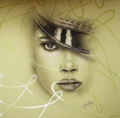 laminas pintadas a mano  papel fantasia,pinturas pinceles,aerografo aerografia  dibujo