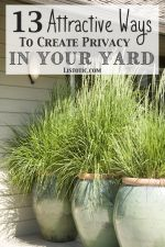 How to easily add privacy to a yard, deck or patio! Listotic.com