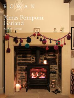 Make this simple festive craft project to adorn your fireplace mantle, book shelf or Christmas tree. Created in Jewel colours of yarn this Pompom garland is made from Brushed Fleece, Pure Wool Worsted, Chenille and Mohair Haze for a feast in texture and colour. Christmas Holidays, Xmas, Christmas Tree, Yarn Crafts, Home Crafts, Jewel Colors, Colours, Festive Crafts, Christmas Knitting Patterns