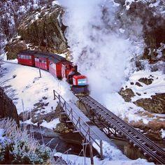 End of the world train. Ushuaia. Argentina