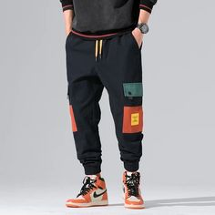 New Autumn Military Track Pants – TopFashionova Harem Pants Men, Mens Jogger Pants, Cargo Pants, Track Pants Mens, Women Pants, Fashion Pants, Mens Fashion, Urban Fashion Men, Japan Men Fashion