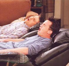 Chandler & Joey sitting in their new chairs for the 1st time..... OOoOOooo..... Ahhhhhhhh..... Ohhhhhhhhhhh