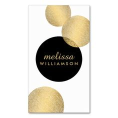 Black and Gold Glamour and Beauty Business Card. Make your own business card with this great design. All you need is to add your info to this template. Click the image to try it out!
