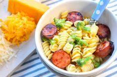 ValSoCal: Cheesy Pasta with Kielbasa and Broccoli