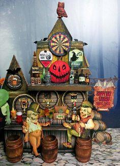 Halloween Village, Halloween Bats, Halloween Decorations, Halloween Stuff, Creepy People, Collage Sheet, Etsy App, Digital Collage, Miniatures