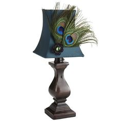 Peacock Feather Mini Lamp from Pier 1 imports. Shop more products from Pier 1 imports on Wanelo. Peacock Colors, Peacock Art, Peacock Theme, Peacock Design, Peacock Feathers, Peacock Crafts, Peacock Ring, Feather Crafts, Floral Design