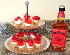 You can use splenda and no sugar cherries. Recommend disposable shot glasses with the small disposable spoons. Can make into cupcake or a pie.