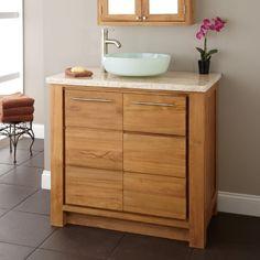 "36"" Venica Teak Vessel Sink Vanity Signature Hardware http://www.amazon.com/dp/B00I5559BC/ref=cm_sw_r_pi_dp_biy6tb0KY7RTA"