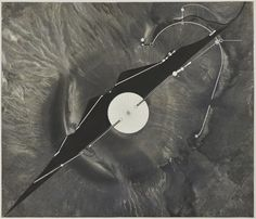 James Turrell: Site Plan with Elevation (Roden Crater), 1988. Photographic emulsion, India ink and pencil on Mylar. 23 1/2 x 27 inches. Copyright James Turrell. Photo credit: Kayne Griffin Corcoran.