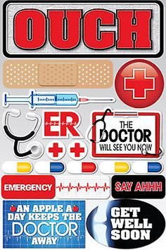 Reminisce DOCTOR 3-D MULTI-LAYERED Stickers scrapbooking OUCH