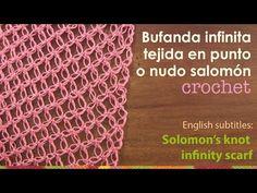 Bufanda infinita tejida en el punto nudo salomón - English subtitles: solomon's knot infinity scarf - YouTube