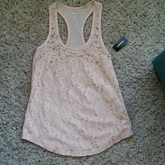EXPRESS TANK TOP Soft pink. Lace material with slip under Pearl details at the top Express Tops Tank Tops