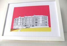 Glasgow Print   - art print   #peonyandthistle
