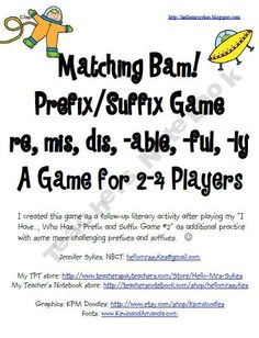 Viewing 1 - 20 of 26678 results for prefix and suffix bam game 2 common prefixes amp suffixes Reading Strategies, Reading Skills, Teaching Reading, Learning, Teaching Language Arts, Speech And Language, Word Study Activities, Prefixes And Suffixes, Education And Literacy