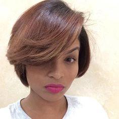 Cute Light Brown Bob for Black Women